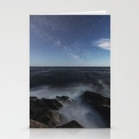 Milky Way in Moonlight Stationery Cards