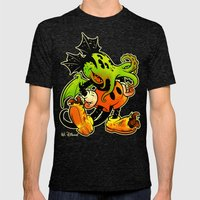MICKTHULHU MOUSE (color) Mens Fitted Tee Tri-Black SMALL