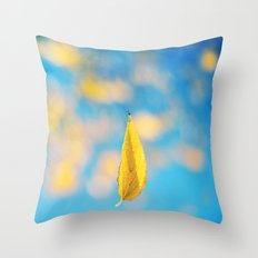 Yellow & blue Throw Pillow