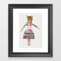 Crazy Cat Lady Framed Art Print