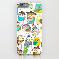 Owls. owl illustration, owl art, owl decor, pattern, art, design, animal, nature, kids, children,  iPhone 6 Slim Case