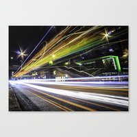 Light Trails 1 Canvas Print