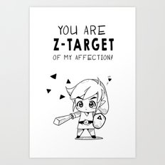 Z-Target of My Affection Art Print