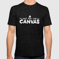 Canvas Mens Fitted Tee Tri-Black SMALL