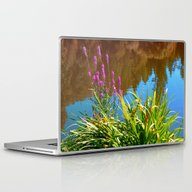 Flowers At The Pond Laptop & iPad Skin