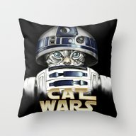 Cat R2 D2 Throw Pillow