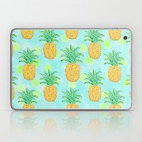Pineapples and Polka Dots (pattern) Laptop & iPad Skin