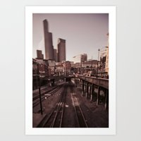 seattle Art Prints featuring Seattle by Aaron Morris