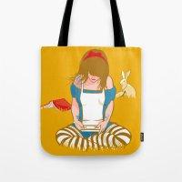 Alice in Mario Land Tote Bag