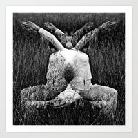 DARK MEDITATIVE POWER   Art Print