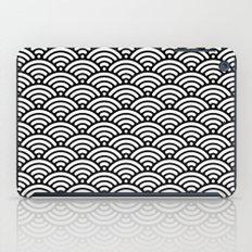 Black White Waves iPad Case