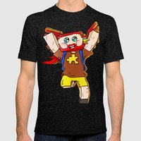 Getting jiggy with it - Minecraft Avatar Mens Fitted Tee Tri-Black SMALL