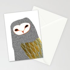 Barn owl, owl art, owl illustration, owls, nature, animal art,  Stationery Cards