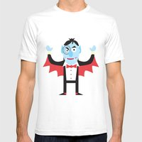Dracula Mens Fitted Tee White SMALL