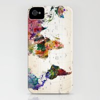 iPhone 4s & iPhone 4 Cases featuring map by mark ashkenazi