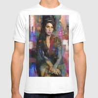 Amy Mens Fitted Tee White SMALL