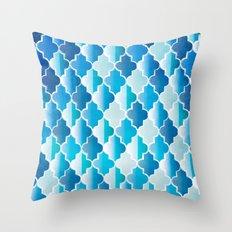 Geo-Ocean Throw Pillow