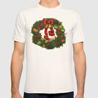 Christmas Wreath. Art No… Mens Fitted Tee Natural SMALL