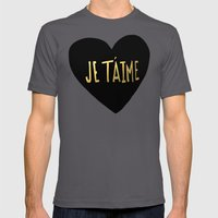Je T'aime X Heart Mens Fitted Tee Asphalt SMALL