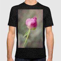 Peony Pop Mens Fitted Tee Tri-Black SMALL