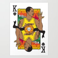 King of LA Art Print