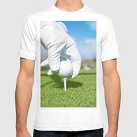Tee Me Up Mens Fitted Tee White SMALL