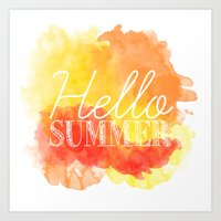 Hello Summer; Art Print