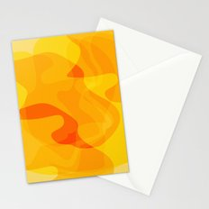 Orange Abstract Shapes Stationery Cards
