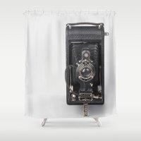 Retro Kodak - Camera Shower Curtain