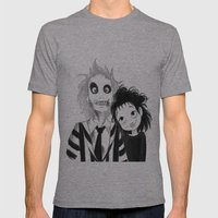 Beetle Juice fan art Mens Fitted Tee Athletic Grey SMALL