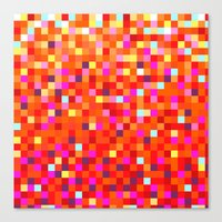 Inferno -- Pixel Art By … Canvas Print
