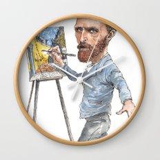 Van Gogh Paints Night Cafe Wall Clock