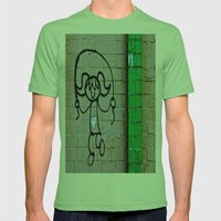 Jump Rope Street Art Mens Fitted Tee Grass SMALL