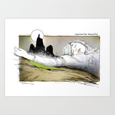 PICNIC AT HANGING ROCK Art Print