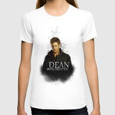 Dean Winchester - Supernatural Womens Fitted Tee White SMALL