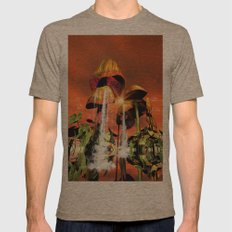 Mushrooms in the sea Mens Fitted Tee Tri-Coffee SMALL