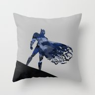 Bat Man  Dark Blue Hero … Throw Pillow