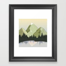 Night Mountains No. 20 Framed Art Print
