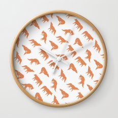 wild wolves pattern Wall Clock