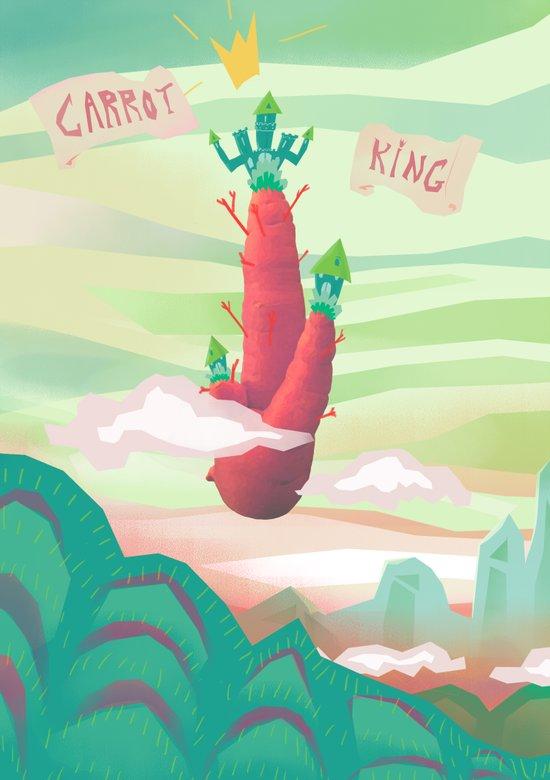 Carrot King Art Print