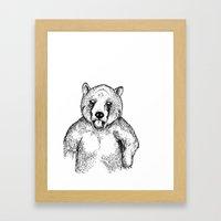 Cold Bear Framed Art Print