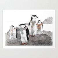 Penguins Art Print