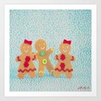 Gingerbread Peeps Art Print