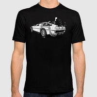 DeLorean / BW Mens Fitted Tee Black SMALL