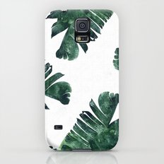 Banana Leaf Watercolor P… Galaxy S5 Slim Case
