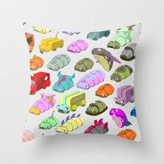 Bug Race Throw Pillow