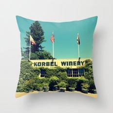Korbel Winery Throw Pillow