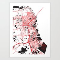 San Francisco Noise Map Art Print