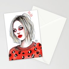 Girls talk (so much shit) Brody D Stationery Cards