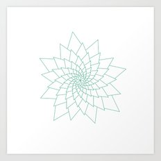 #307 Aster – Geometry Daily Art Print